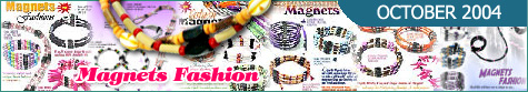 Magnetic Jewelry Necklace Belt Bracelet Collection October 2004 Specials